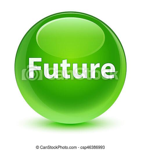 Future glassy green round button - csp46386993