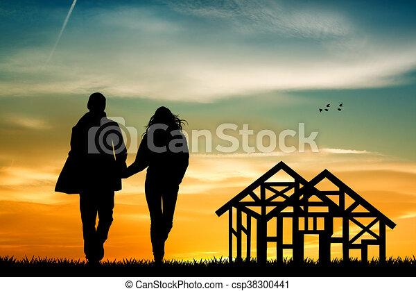 future house under construction - csp38300441