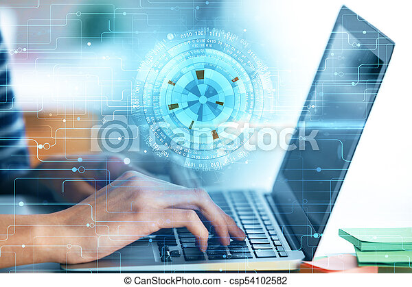 Future, innovation and finance concept - csp54102582