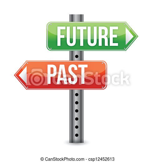 future or past sign illustration de - csp12452613