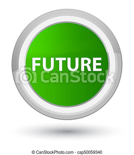 Future prime green round button - csp50059340