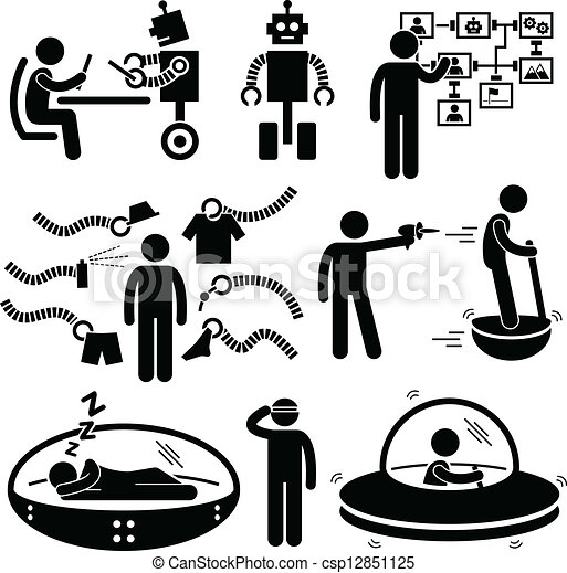 Future Robot Technology Pictogram - csp12851125