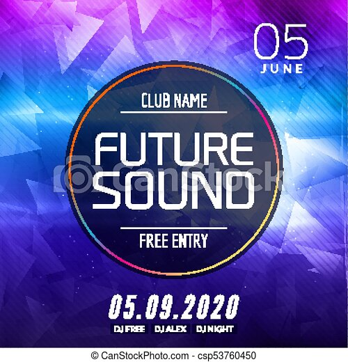 future sound music party template dance party flyer brochure
