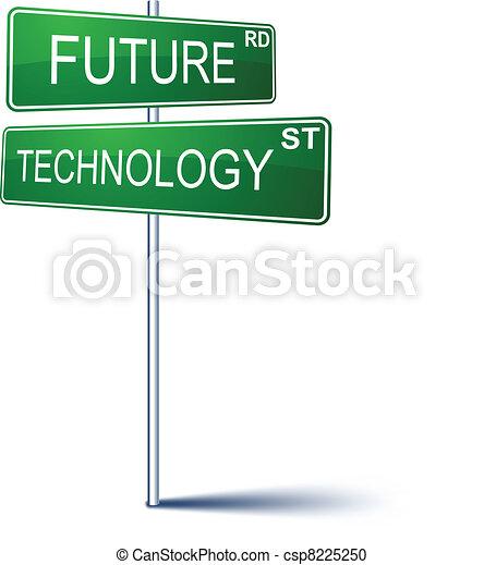 future-technology, sinal., direção - csp8225250