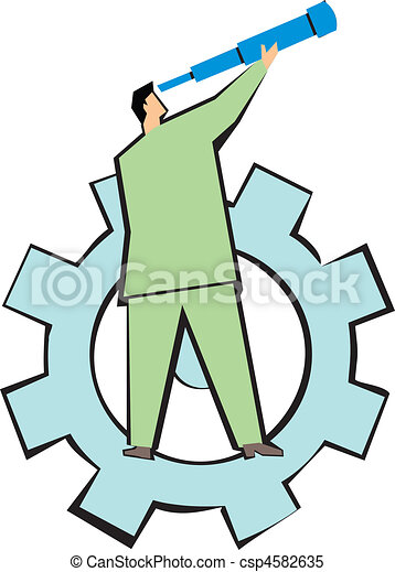 future technology business man analysing stock illustrations rh canstockphoto com free clipart technology images