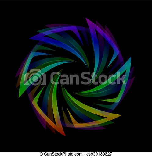 Diseño futurista abstracto - csp30189827