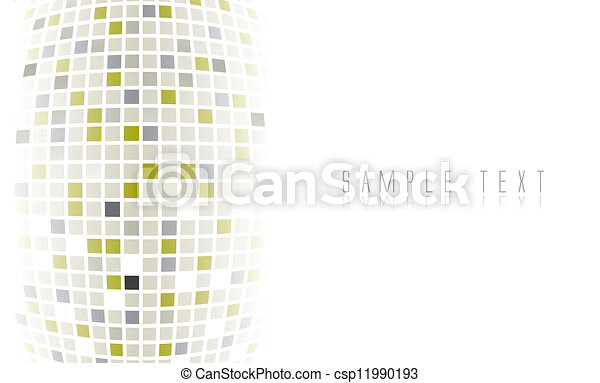 futurista, fundo, digital - csp11990193