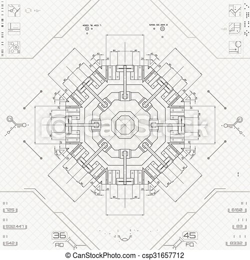 futuriste, utilisateur, graphique, interface - csp31657712