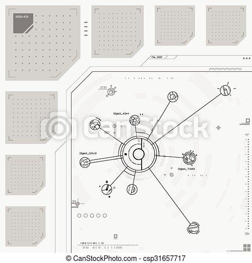 futuriste, utilisateur, graphique, interface - csp31657717