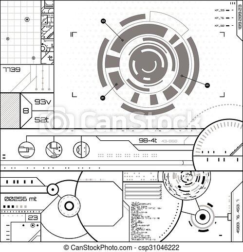 futuriste, utilisateur, graphique, interface - csp31046222