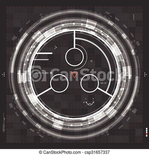 futuriste, utilisateur, graphique, interface - csp31657337
