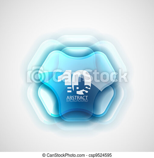 Futuristic abstract symbol - csp9524595