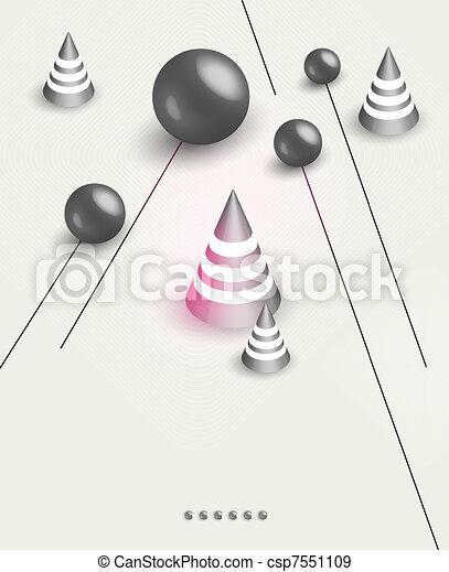 futuristic art background - csp7551109