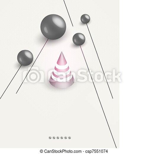 futuristic art background - csp7551074