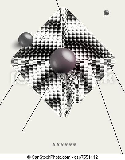 futuristic art background - csp7551112