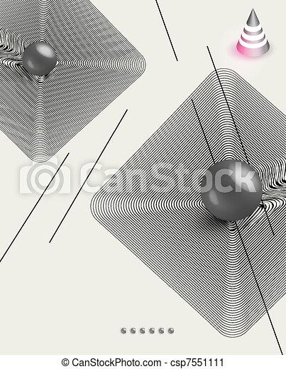 futuristic art background - csp7551111