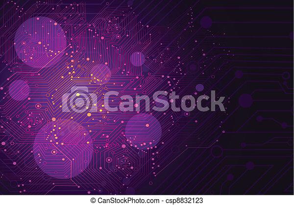 Futuristic Background - csp8832123