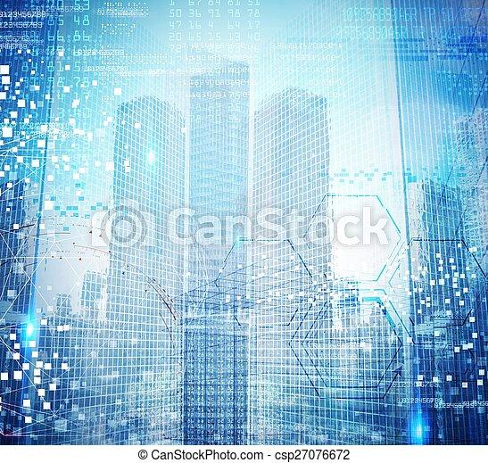 Futuristic background - csp27076672