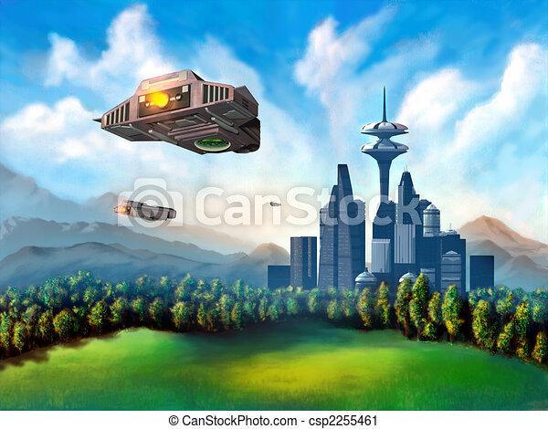 Futuristic city - csp2255461
