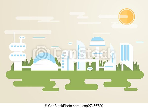 Futuristic city - csp27456720