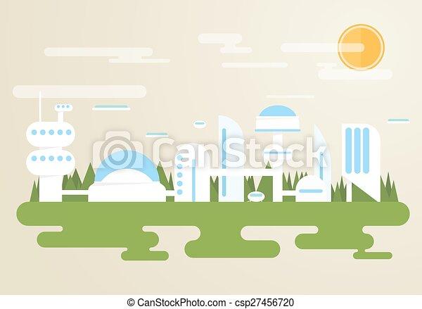 Futuristic city - csp27456720