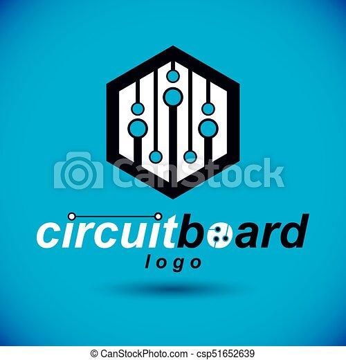 Futuristic cybernetic vector motherboard. digital element ...