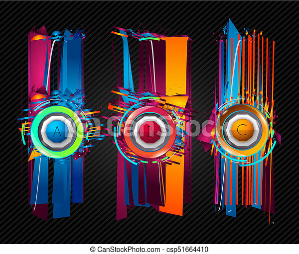 futuristic frame art design with abstract shapes and drops of colors behind the space for text modern artistic flyer or https www canstockphoto com futuristic frame art design with 51664410 html