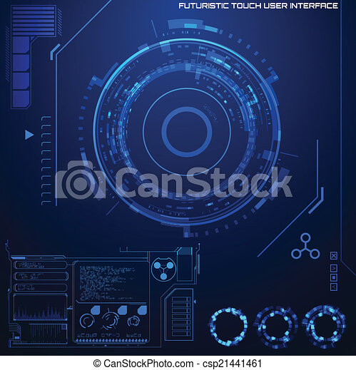 Futuristic graphic user interface - csp21441461