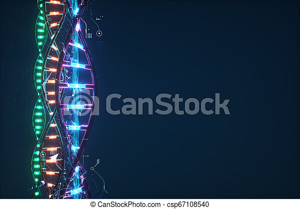Futuristic image of DNA. - csp67108540