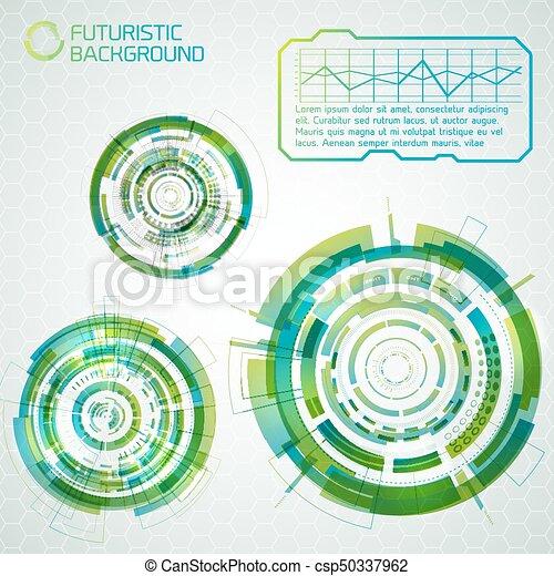 Futuristic interface design elements. Modern virtual... clip art ...