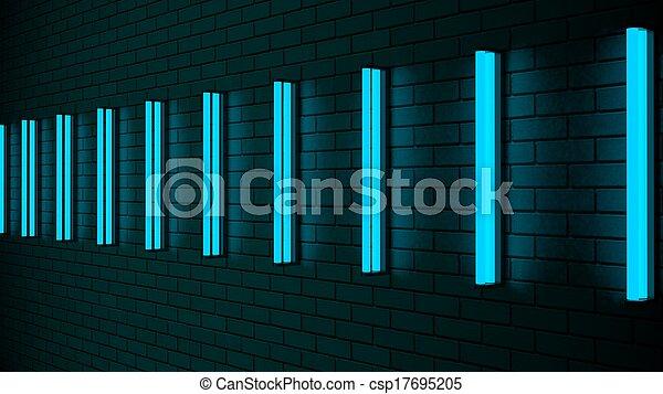Futuristic neon lights on the wall futuristic neon lights on the wall csp17695205 aloadofball Images