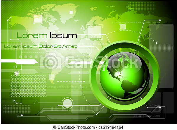 Futuristic technology abstract background - csp19494164
