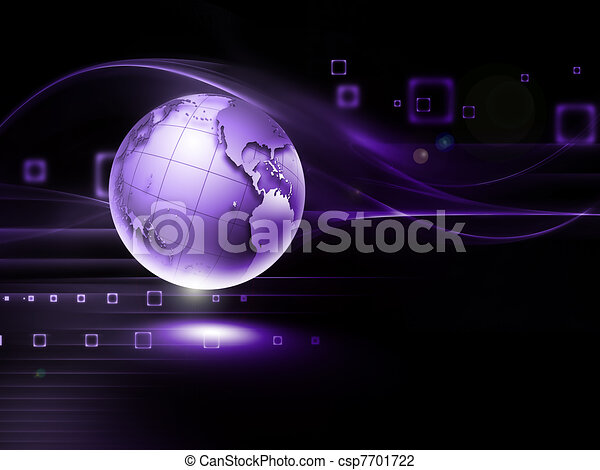 Futuristic technology abstract background - csp7701722