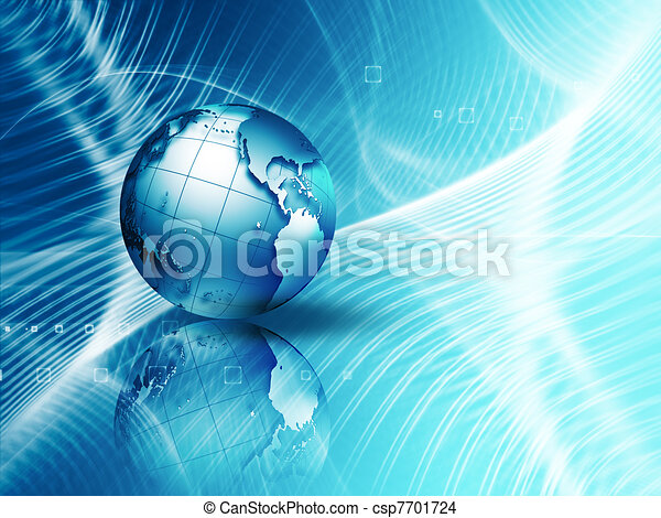 Futuristic technology abstract background - csp7701724