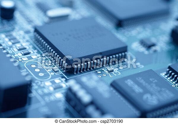 Futuristic technology - Cool blue image of a cpu - csp2703190