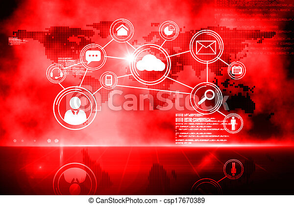 Futuristic technology interface - csp17670389
