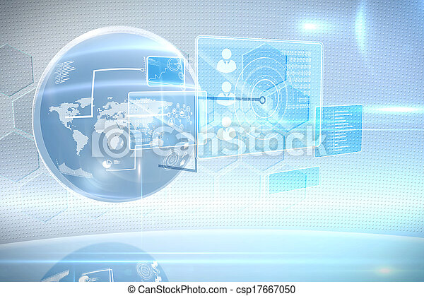 Futuristic technology interface - csp17667050