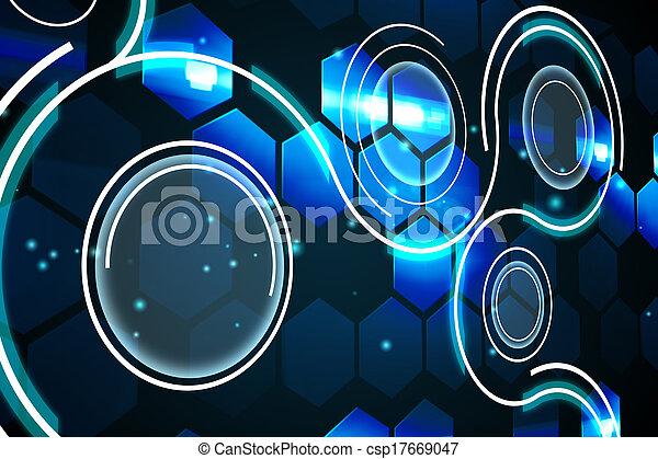 Futuristic technology interface - csp17669047