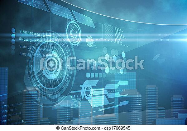 Futuristic technology interface - csp17669545
