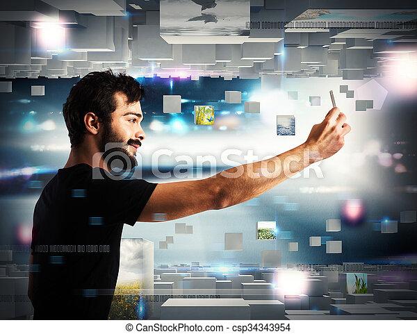 Futuristic technology - csp34343954