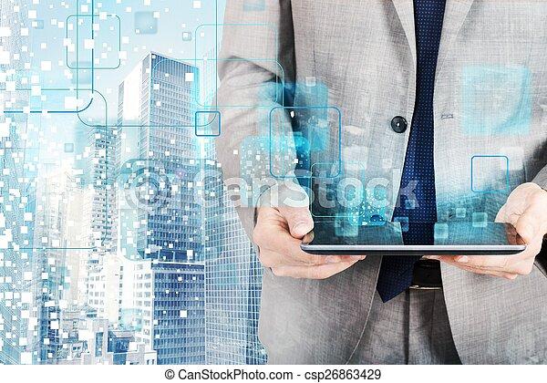 Futuristic technology - csp26863429
