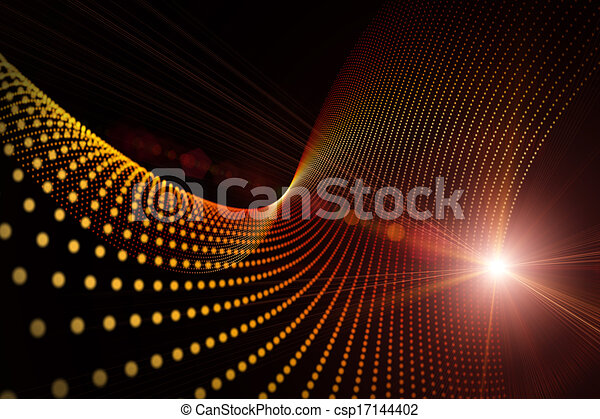 Futuristic technology wave background design with lights - csp17144402