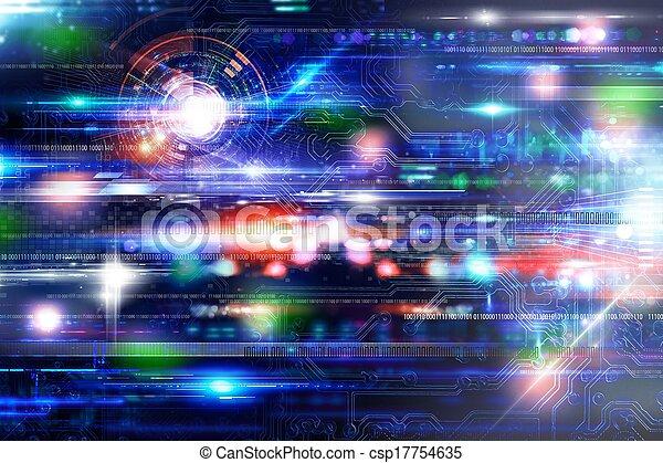 Futuristich technology background - csp17754635