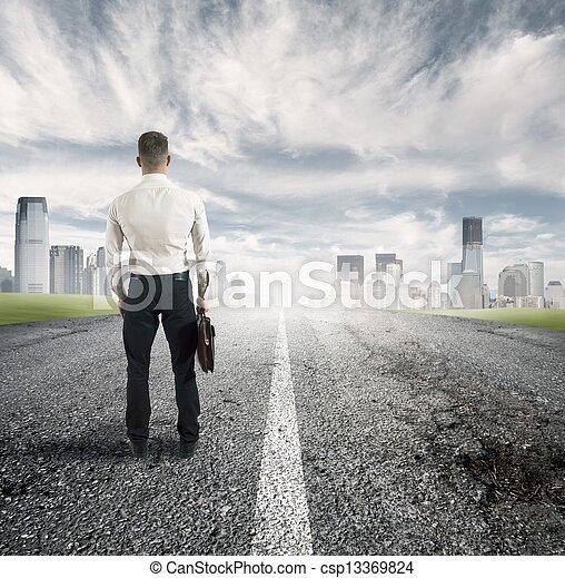 futuro, maneira - csp13369824