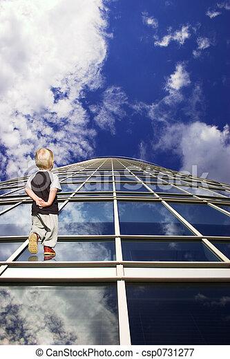 futuro, modo, bambini - csp0731277