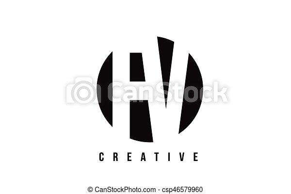 Fv F V White Letter Logo Design With Circle Background Fv F V White