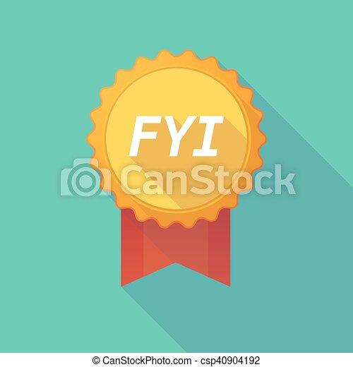 fyi, ombre, long, écusson, texte - csp40904192