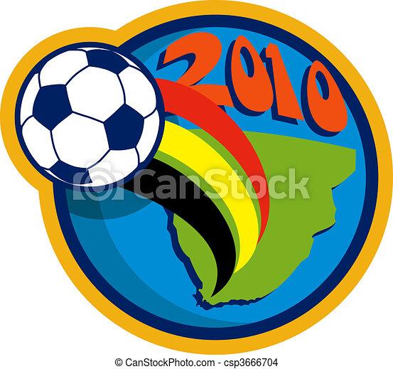 fying, térkép, labda, csésze, földgolyó, afrika, 2010, világ, futball, felett, déli - csp3666704