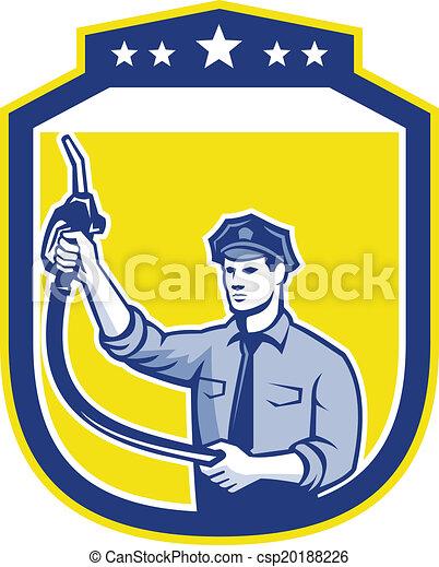 gás, assistente, jóquei, gasolina, escudo - csp20188226