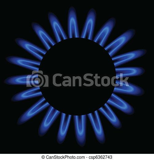gás natural, chama - csp6362743